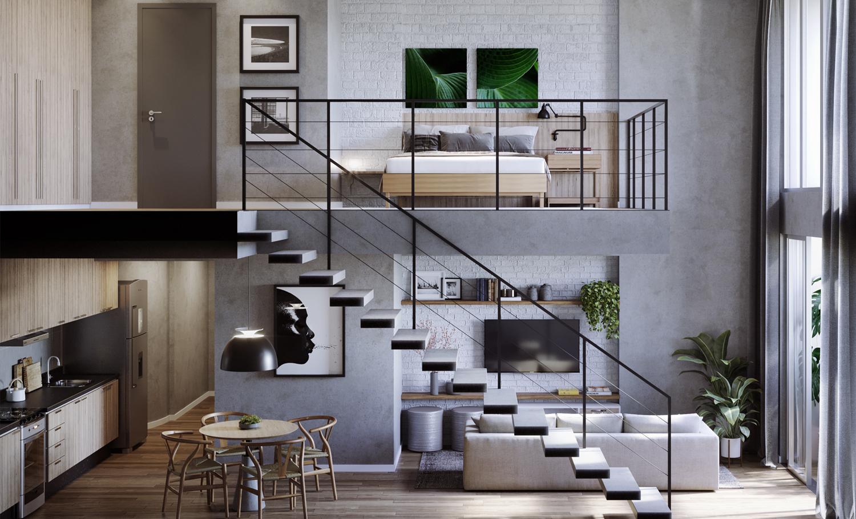 Apartamento duplex decorado